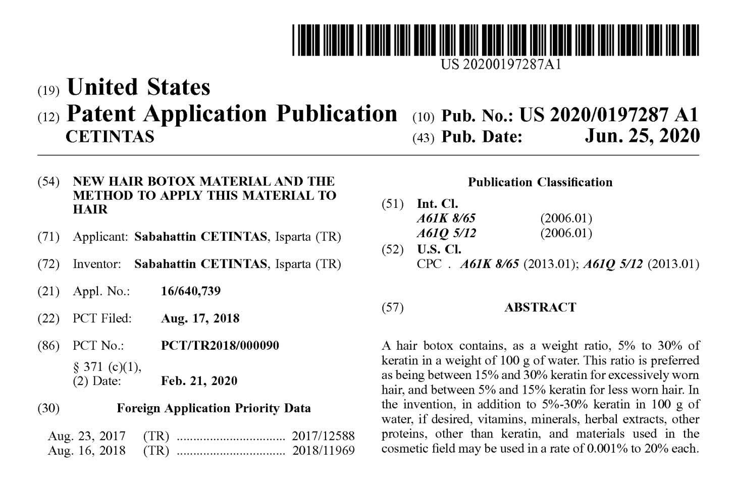 Amerika Patent Belge